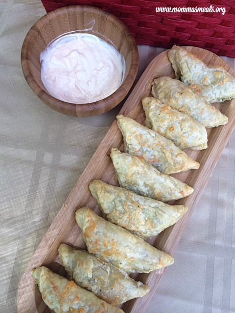 Zucchini & Cheese Triangles